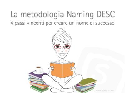 La Metodologia Naming DESC: i 4 passi vincenti per lo sviluppo di Nomi di Successo